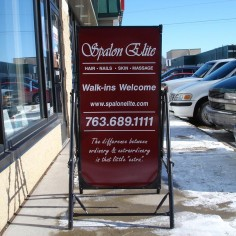 Spalon Elite's Sidewalk Sign